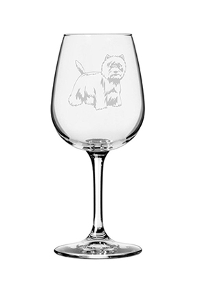 westie wine glass